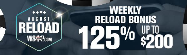 August Weekly Reload Bonus