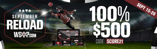 100% up to $500 Reload