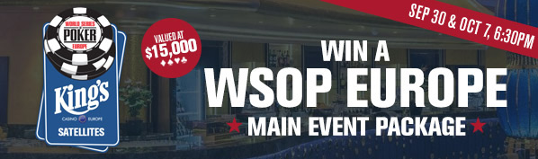 WSOP Europe Satellites