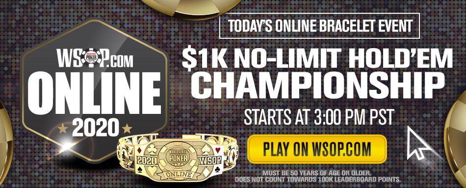 2020 WSOP Online Bracelet Schedule