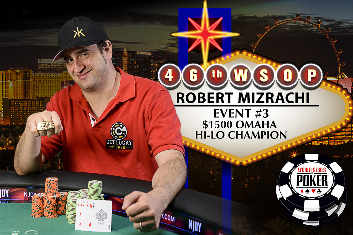 Robert Mizrachi wins 3rd Bracelet in 2015 WSOP Event #3 - photo courtesy wsop.com