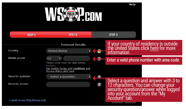 WSOP | How to Register & Login